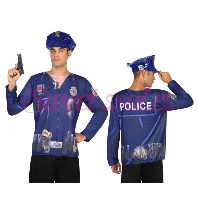 CAMISETA DE POLICIA HOMBRE, M-L
