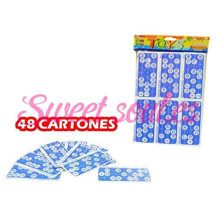 48 CARTONES DE BINGO
