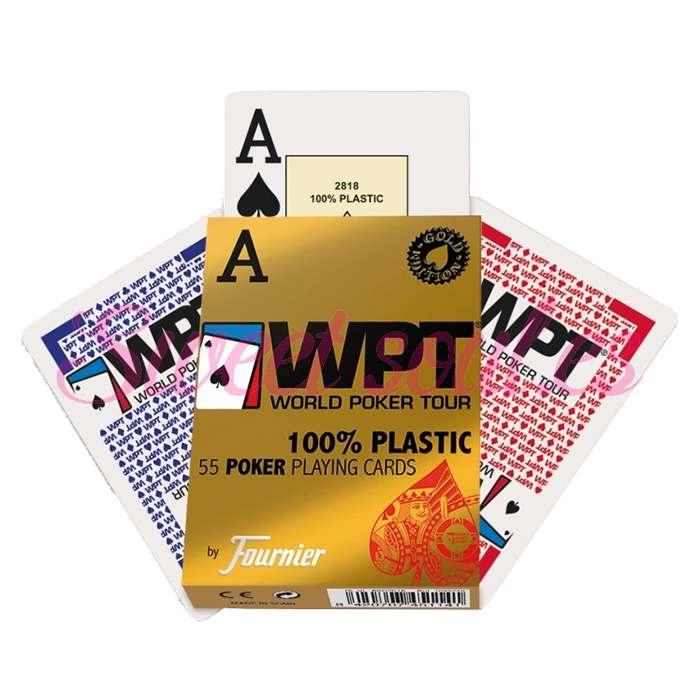 BARAJA WPT 100% PLASTICO GOLD EDITION