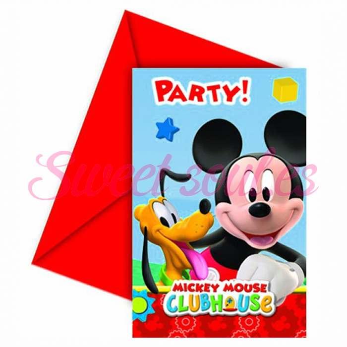 INVITACIONES MICKEY CLUB HOUSE x6 UNDS