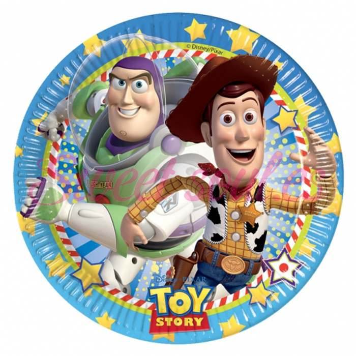 PLATOS PAPEL TOY STORY ACTION 23cm, 8 UNDS