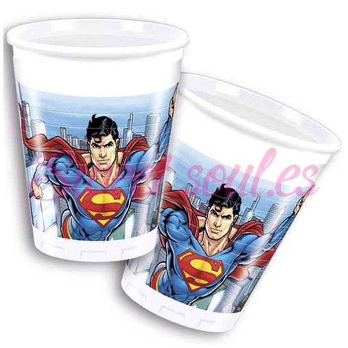 VASOS PLASTICO SUPERMAN, 8 UNDS