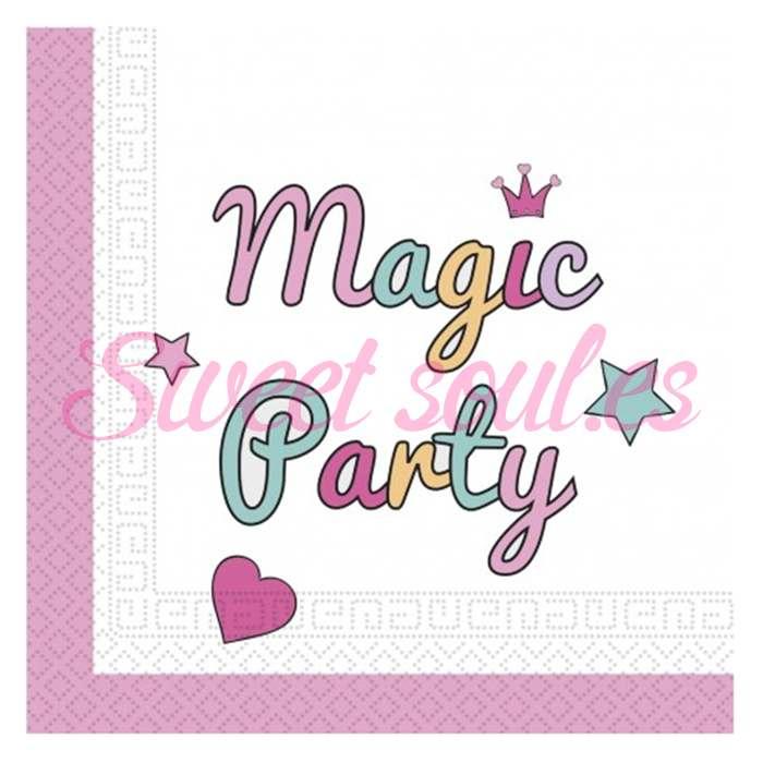 SERVILLETAS PAPEL MAGIC PARTY, 20 UNDS