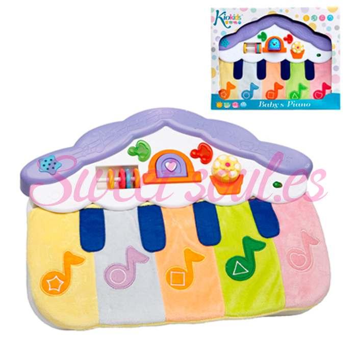PIANO MUSICAL PELUCHE INFANTIL, 40x28cm