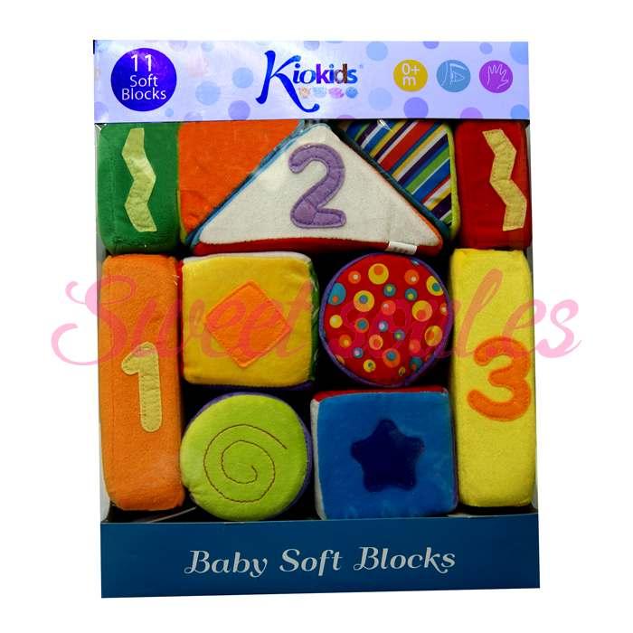 BABY SOFT BLOCKS, 11 PIEZAS