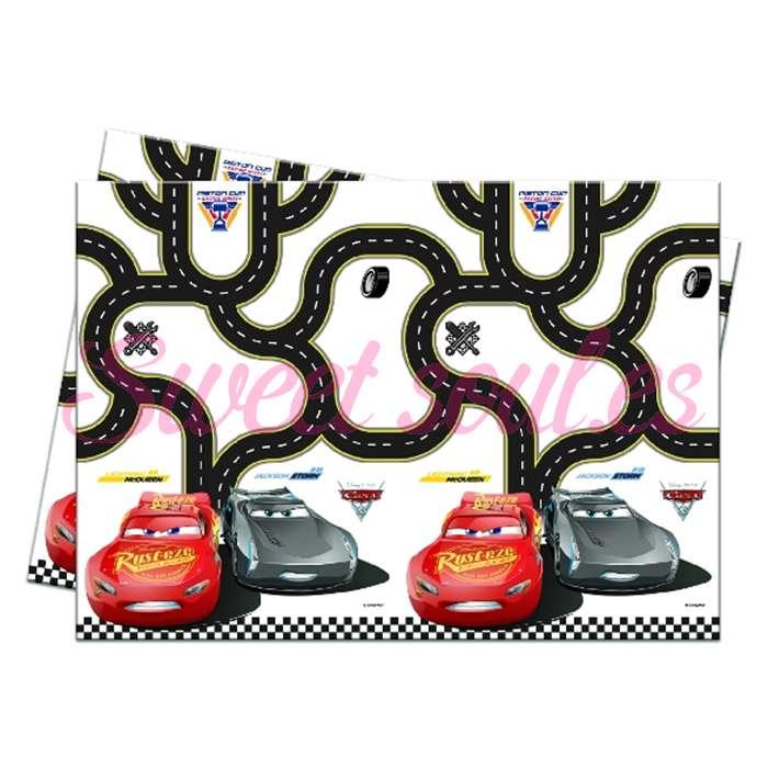 MANTEL PLASTICO CARS 3, 180x120cm