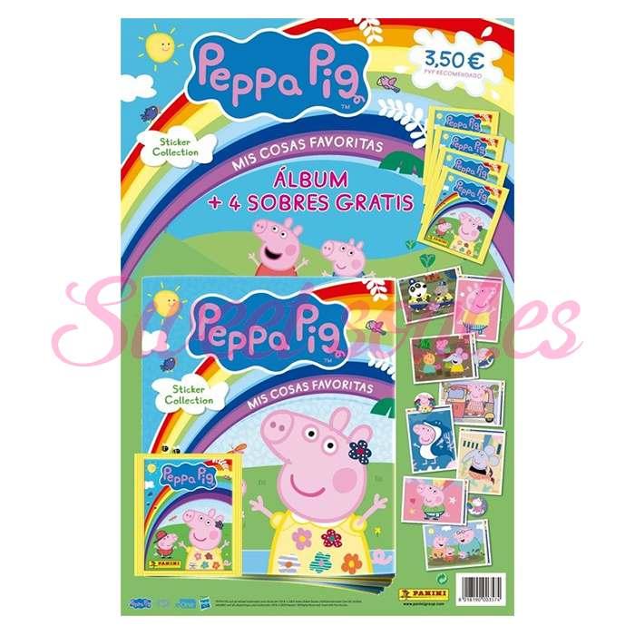 ALBUM CROMOS PEPPA PIG + 4 SOBRES