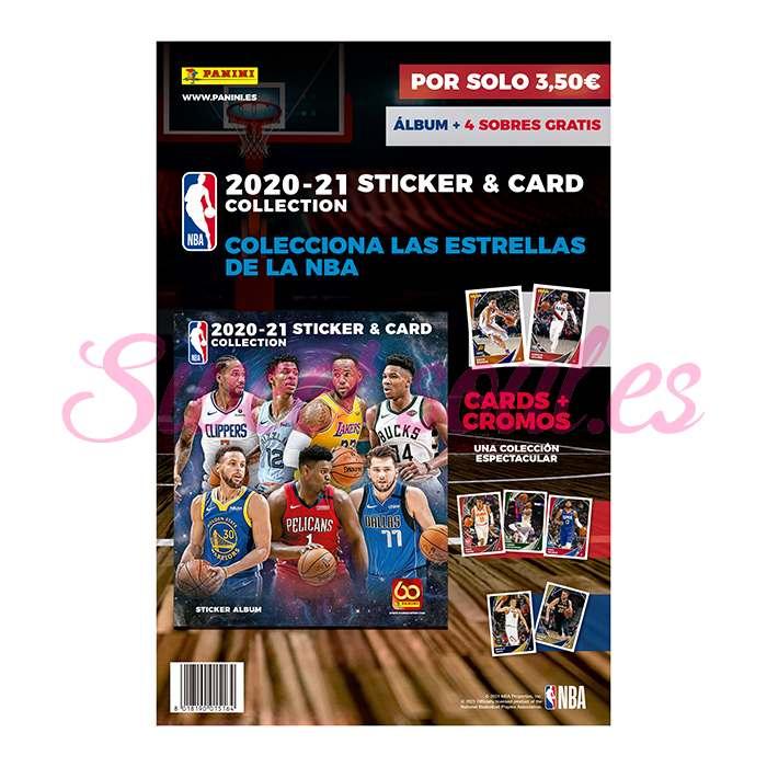 ALBUM NBA 2020-2021 + 4 SOBRES