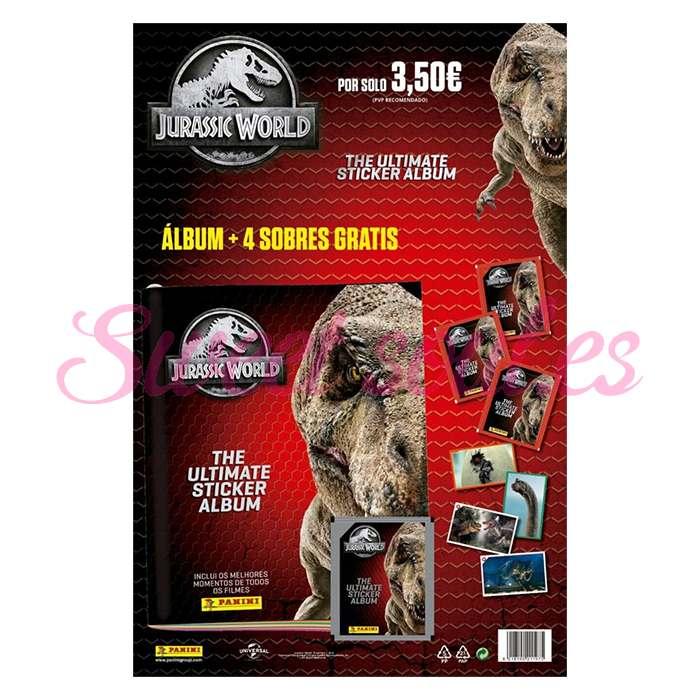 ALBUM JURASSIC WORLD ANTOLOGY + 4 SOBRES