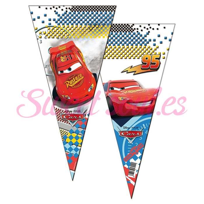 BOLSA CONO CARS NEW 20x40cm, 50UNDS