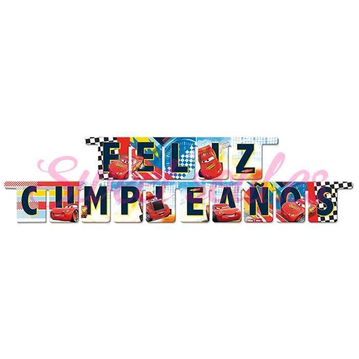 GUIRNALDA FELIZ CUMPLEAÑOS CARS NEW