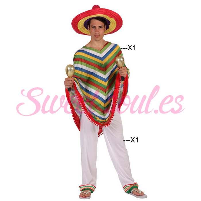 DISFRAZ DE MEXICANO HOMBRE