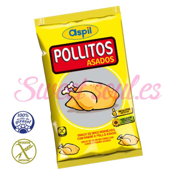 BOLSA DE SNACKS POLLITOS ASADOS ASPIL, 30UNDSx29g