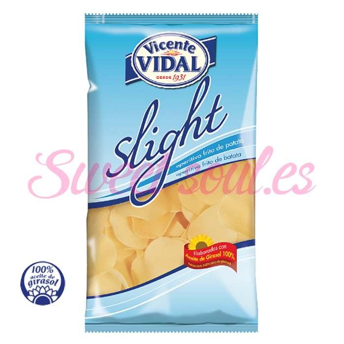 BOLSA DE PATATAS FRITAS VICENTE VIDAL SLIGHT, 120g