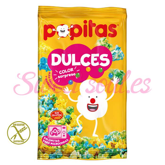 BOLSA DE POPITAS DULCES COLOR SORPRESA, 100g