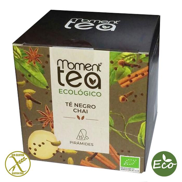 TE NEGRO CHAI ECOLOGICO, MOMENT TEA, 15 PIRAMIDES