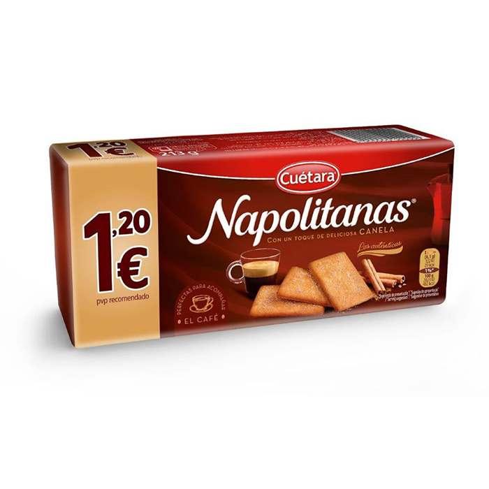 GALLETAS NAPOLITANAS TOQUE CANELA CUETARA, 213g