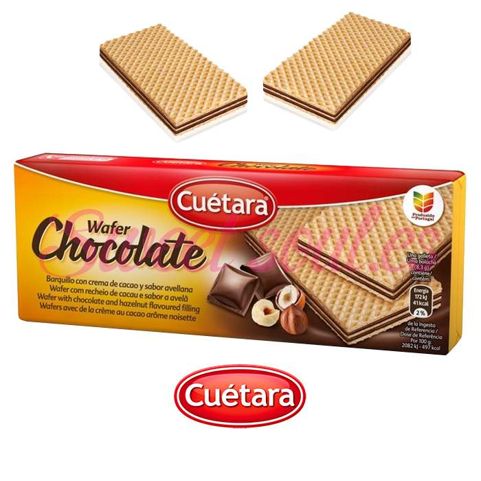 PAQUETE WAFER CHOCOLATE CUETARA, 150g