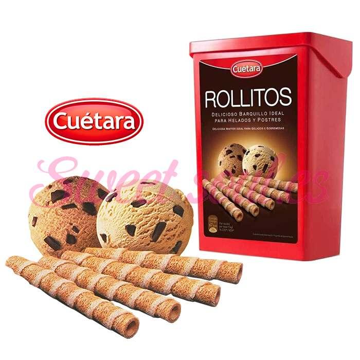 BOTE BARQUILLOS ROLLITOS CUETARA, 225g