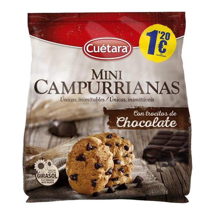 MINI CAMPURRIANAS CON CHOCOLATE CUETARA, 145g