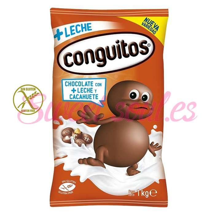 BOLSA DE CONGUITOS CHOCOLATE CON LECHE LACASA, 1kg