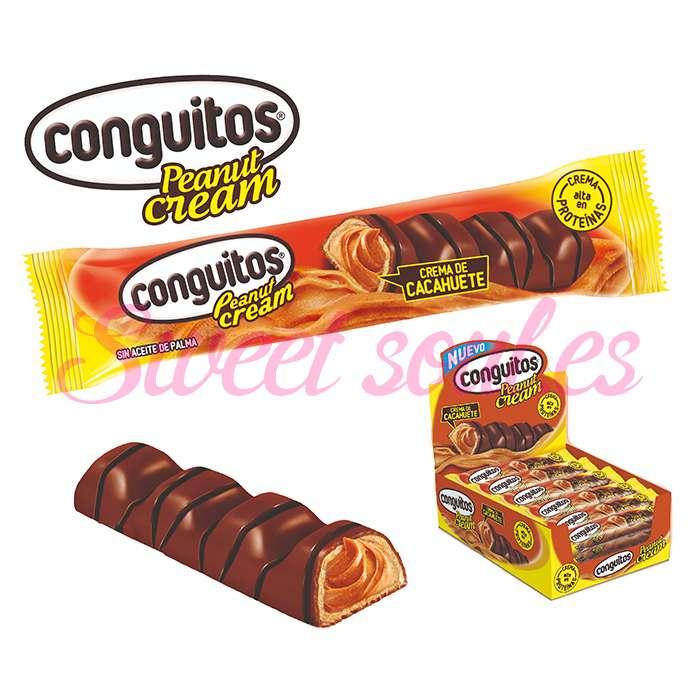 CONGUITOS BARRA CREMA CACAHUETE 23g X 18UNDS