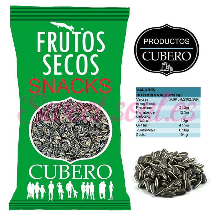 PIPAS DE GIRASOL CRUDAS SELECIONADAS CUBERO, 2kg