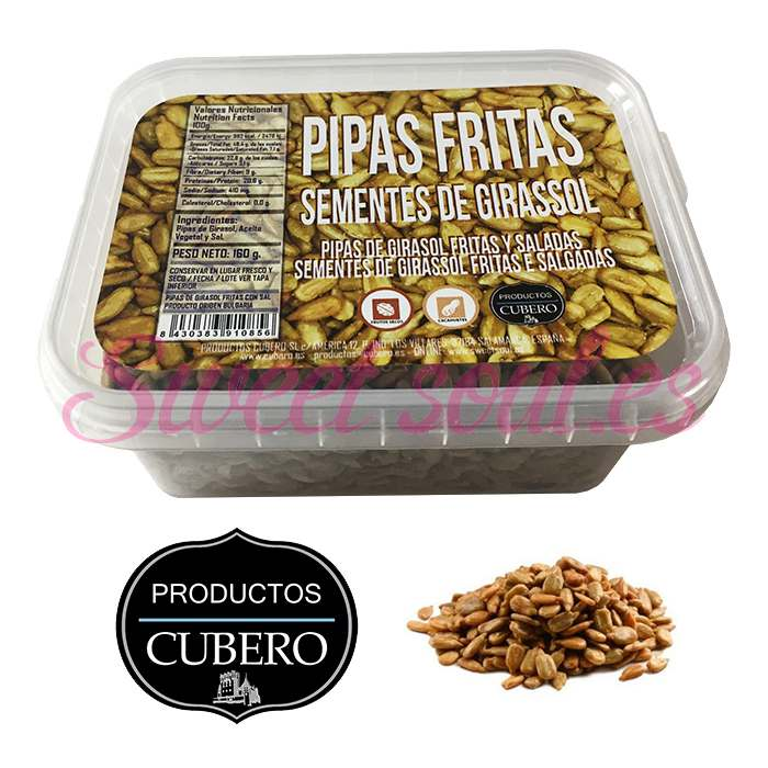 BANDEJA PIPAS FRITAS PELADAS CUBERO, 160g