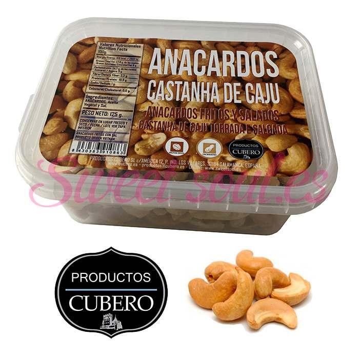BANDEJA ANACARDOS FRITOS CUBERO, 125g