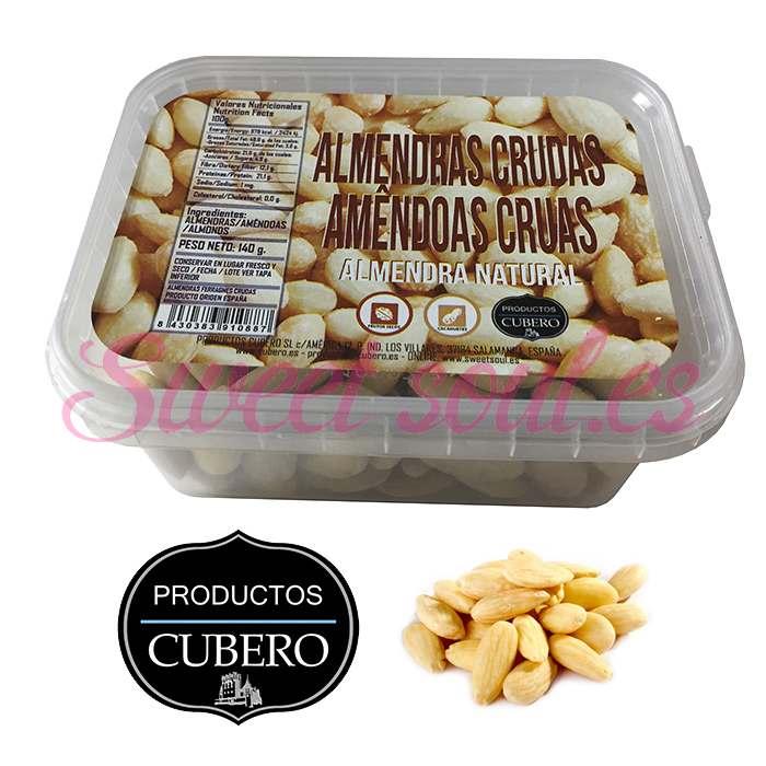 BANDEJA ALMENDRAS CRUDAS CUBERO, 140g