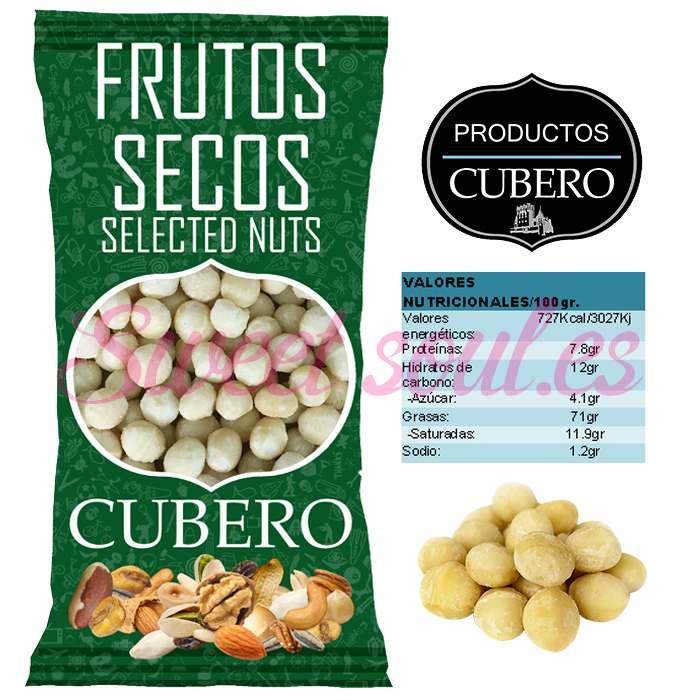 NUECES DE MACADAMIA PELADAS CRUDAS CUBERO, 1kg