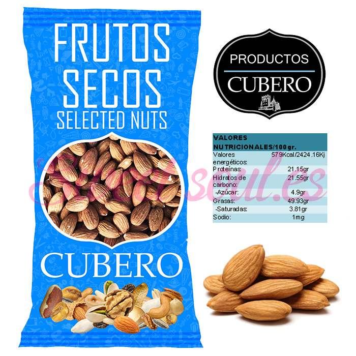 ALMENDRAS LARGUETAS CRUDAS CON PIEL CUBERO, 1kg