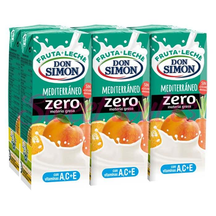 DON SIMON ZERO FRUTA Y LECHE 6X20CL