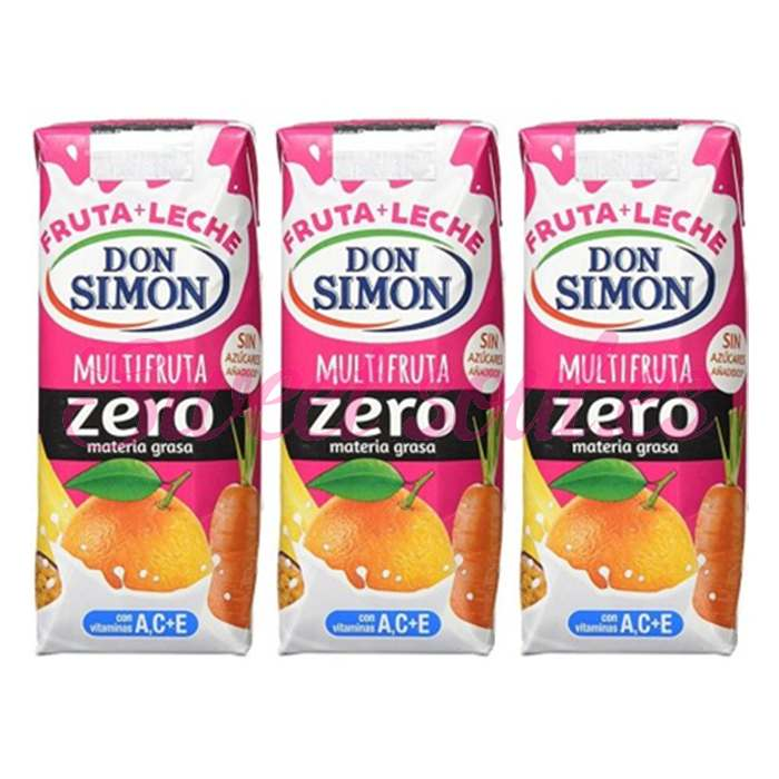 DON SIMON ZERO FRUTA Y LECHE 3X33CL