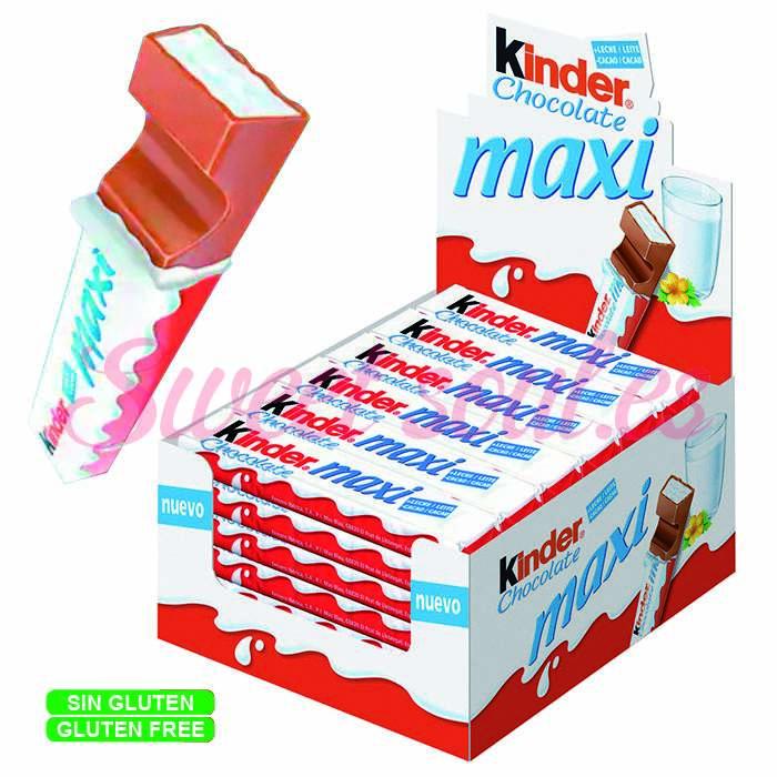 CAJA DE KINDER CHOCOLATE MAXI, T1x36UNDS