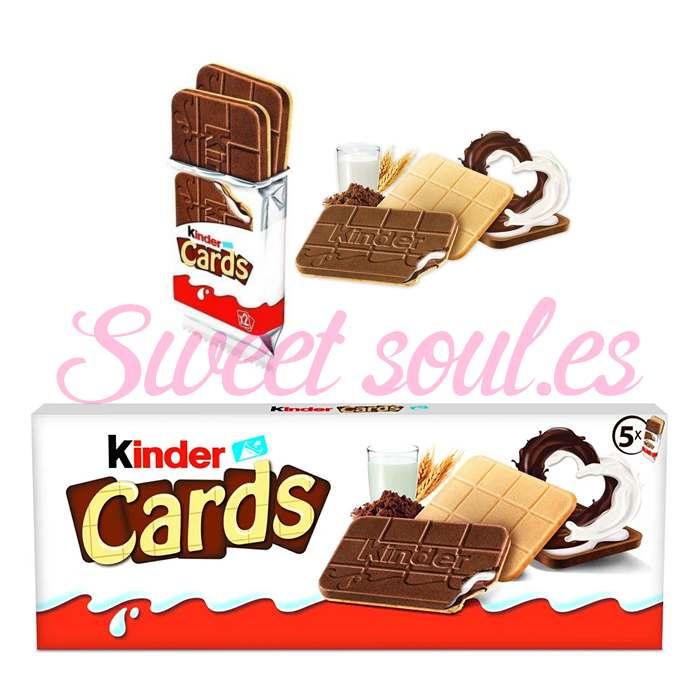 CAJA GALLETAS CHOCOLATE KINDER CARDS, 128g