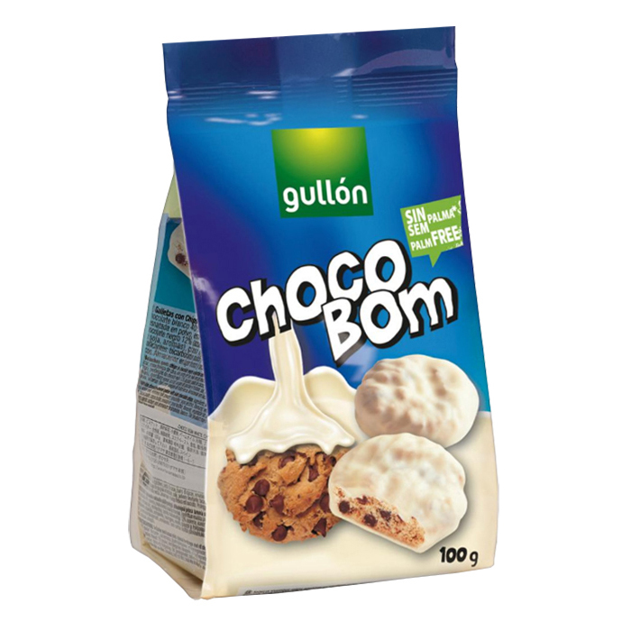 PAQUETE GALLETAS GULLON CHOCO BOM BLANCO, 100g