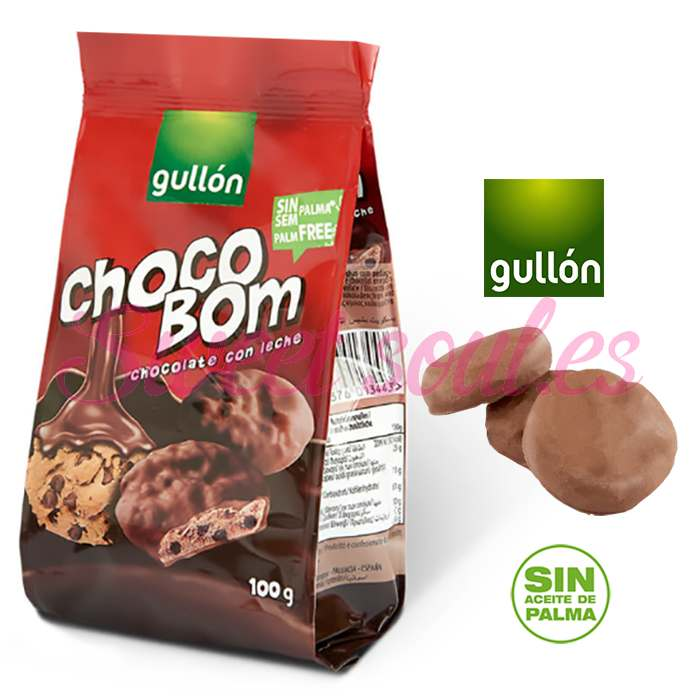 PAQUETE GALLETAS GULLON CHOCO BOM LECHE, 100g