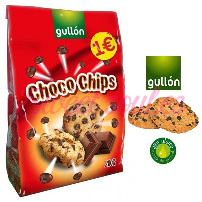 PAQUETE GALLETAS GULLON CHOCO CHIPS, 200g