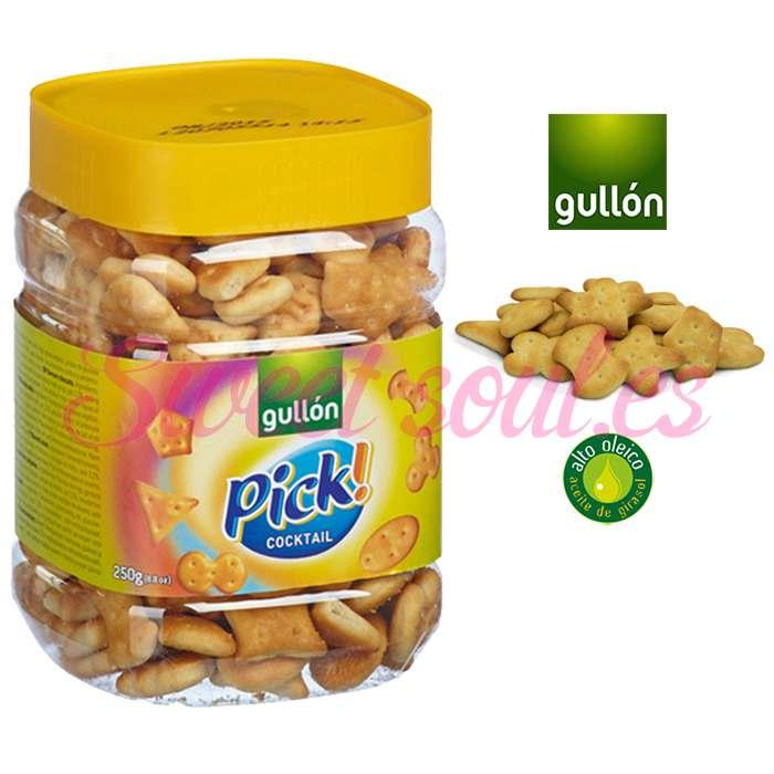 BOTE GALLETAS SALADAS GULLON PICK! COCKTAIL, 250g