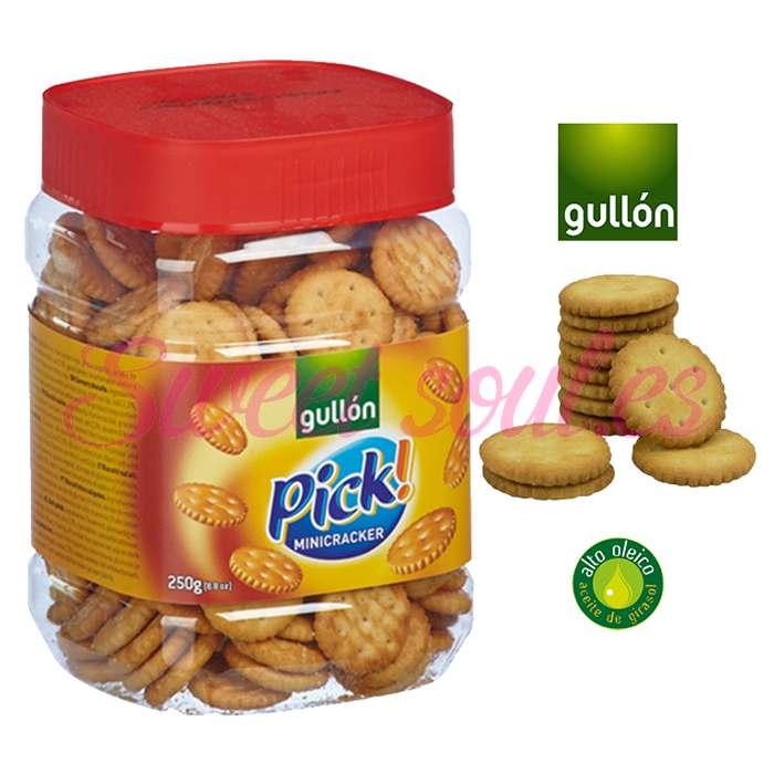 GALLETAS SALADAS GULLON PICK! MINI CRACKER, 250g