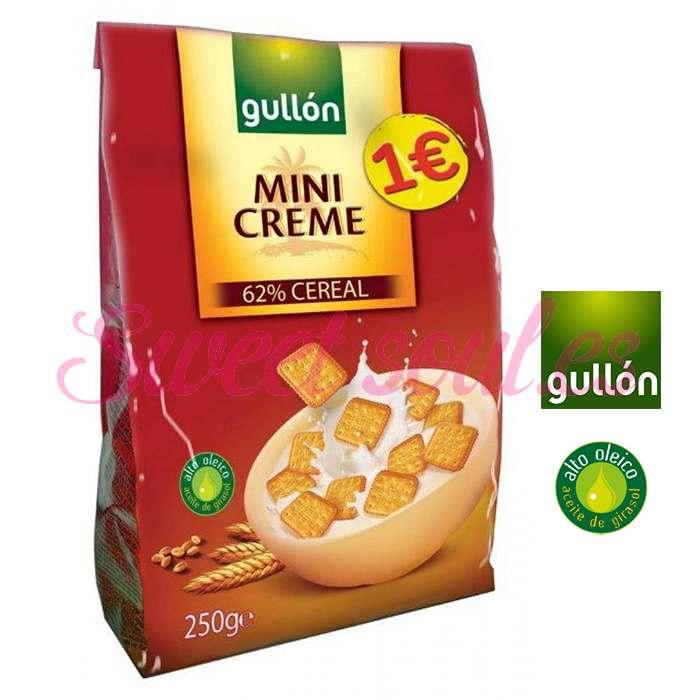 GALLETAS GULLON MINI CREME 62% CEREAL, 250g