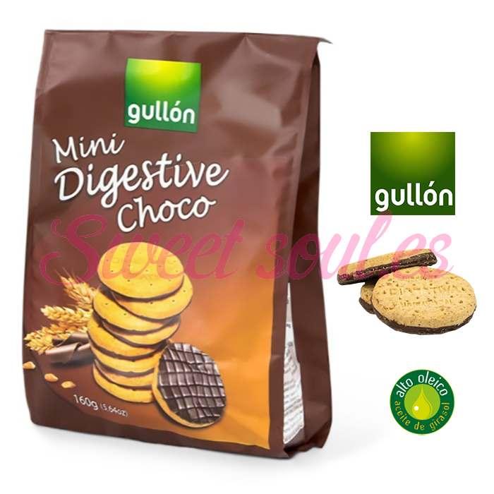 PAQUETE GALLETAS GULLON MINI DIGESTIVE CHOCO, 160g