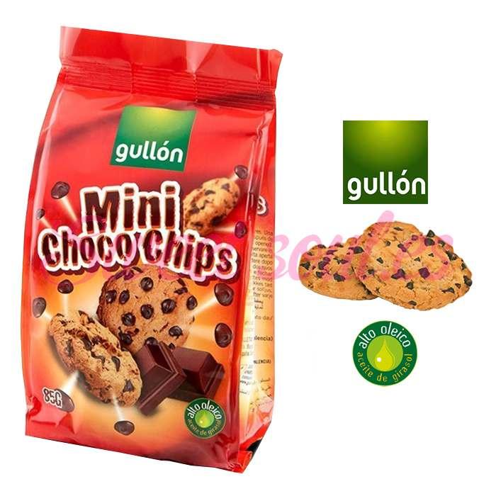 PAQUETE GALLETAS GULLON MINI CHOCO CHIPS, 85g