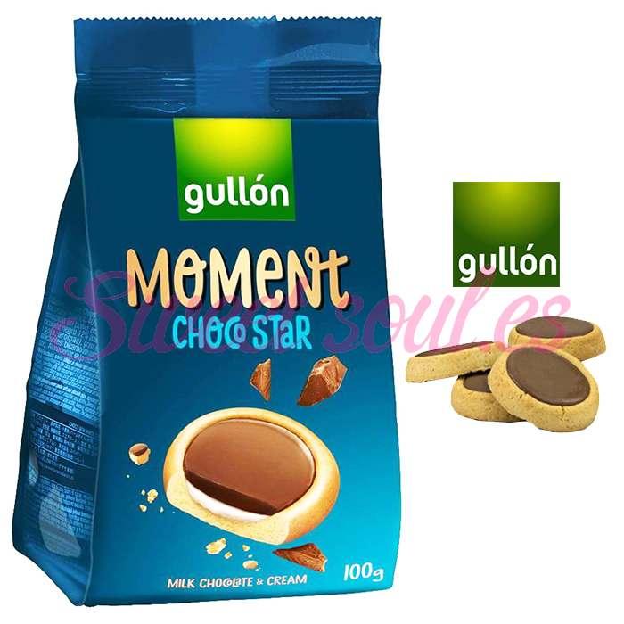 PAQUETE GALLETAS GULLON MOMENT CHOCO STAR, 100g