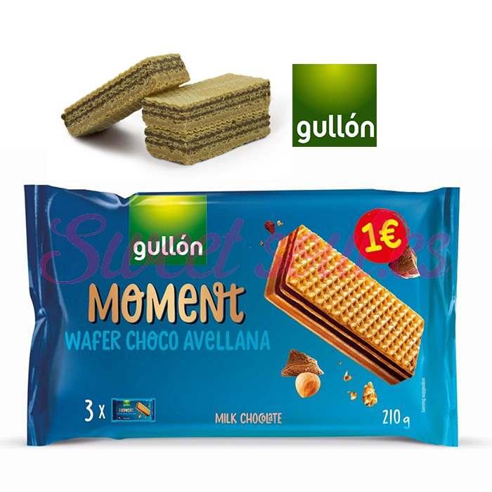 GULLON MOMENT WAFER CHOCO AVELLANA, 210g