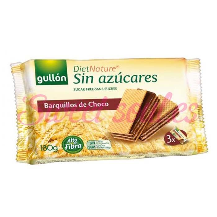 BARQUILLOS CHOCO S/ AZUCAR DIET NATURE GULLON 180g