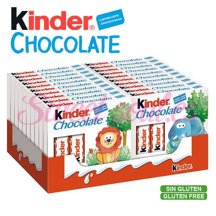 CAJA DE KINDER CHOCOLATE T4, 20UNDSx4BARRITAS