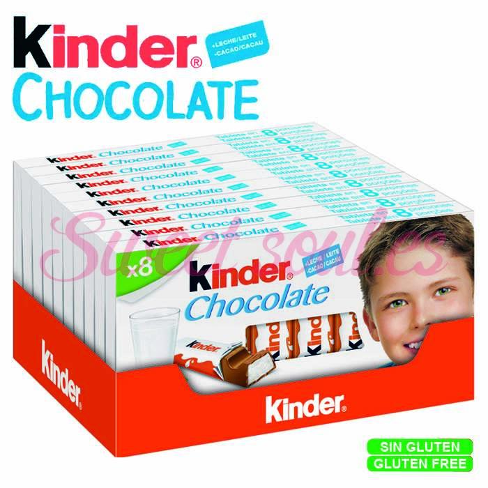 CAJA DE KINDER CHOCOLATE T8, 10UNDSx8PORCIONES