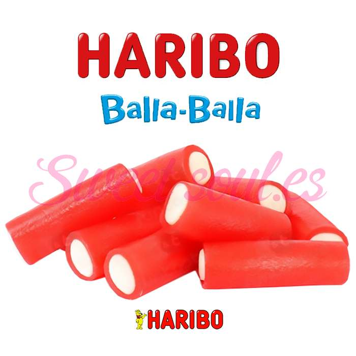 BOLSA REGALIZ BALLA BALLA FRESA HARIBO, 1kg